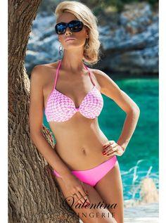 Maillot de bain deux pièces Tropical ♥  A découvrir sur la boutique en ligne Valentina Lingerie.  > Existe en Rose/Vert ou Orange