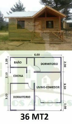 Small Cottage House Plans, Small Cottage Homes, Small House Floor Plans, Simple House Plans, Cottage Floor Plans, Metal House Plans, Barn House Plans, Tiny House Plans, Bamboo House Design