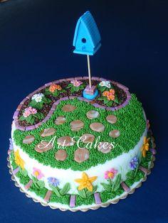 Beautiful garden cake!