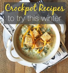 Warm and delicious crockpot recipes that are great to eat when the weather is cold and icy.