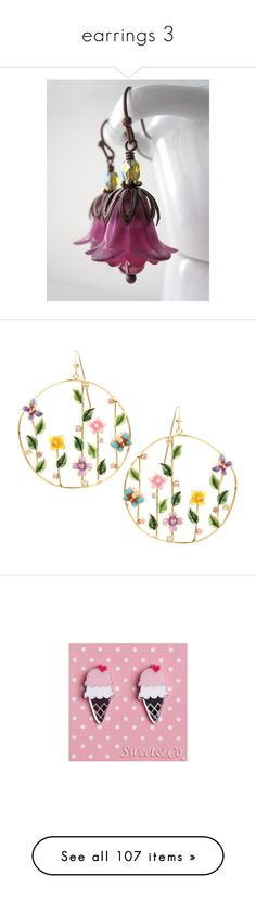 """""""earrings 3"""" by thesassystewart on Polyvore featuring jewelry, earrings, silver, weddings, fuchsia earrings, vintage style earrings, purple earrings, holiday jewelry, beaded earrings and accessories"""