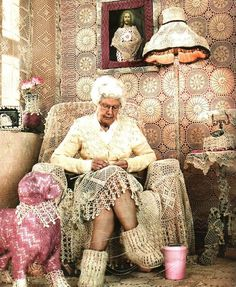 Edna likes to crochet and is leaving many heirlooms for her grandchildren.