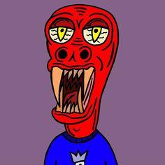 Yahhhh #art #illustration #monster #horror #teeth #red #cartoon #drawing #character #creative #artist #surealism #design #instaart #sketch