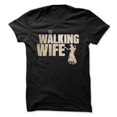(Top Tshirt Popular) The walking wife [Tshirt design] Hoodies, Funny Tee Shirts