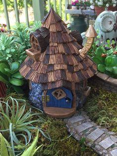 Miniature Wizard Shingled Fairy House   Fairy houses, Fairy and ...