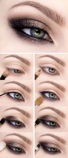 Easy smokey eye makeup tutorial for beginners dedicated step by step. tutorial eyeshadow Easy smokey eye makeup tutorial for beginners dedicated step by step Dark Eye Makeup, Eye Makeup Steps, Glitter Eye Makeup, Simple Eye Makeup, Natural Eye Makeup, Prom Makeup, Wedding Makeup, Makeup Eyeshadow, Natural Beauty