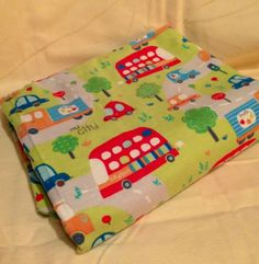 City Vehicle Baby Boy Receiving Blanket Swaddling Blanket Over sized