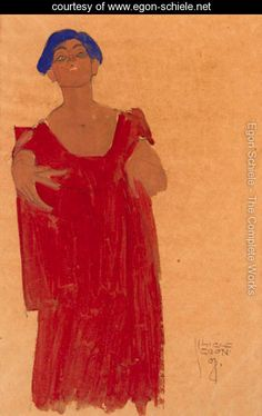 Frau mit blauem Haar - Egon Schiele - www.egon-schiele.net