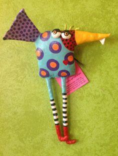 One Toof Goof Bird soft sculpture by jodieflowers.
