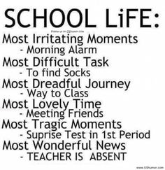 <b>Funny</b> <b>Jokes</b> Quotes And <b>Pictures</b> About Life: School Life Rulesin White ...