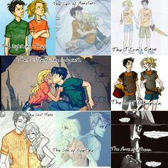 Percy and Annabeth through the books :)  They make me so HAPPY! And then I get realllllly depressed......
