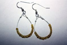 Bright Yellow Loop Earrings by AverysHomemade on Etsy, $8.00