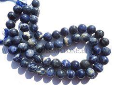 Natural Sodalite Round Smooth Beads, (Quality C), 11.5 to 15 mm, 36 cm, SOD-015, Semiprecious Gemstone Beads #sodalite #sodalitebeads #sodalitebead #sodaliteround #roundbeads #beadswholesaler #semipreciousstone #gemstonebeads #beadsogemstone #beadwork #beadstore #bead