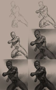 How to draw the Flash character from DC comics. Learn to draw a male superhero, Flash also known as Bart Allen, from video tutorial and step by step images. Flash Characters, Drawing Superheroes, The Flash, Statue, Comics, Drawings, Image, Art, Sketches