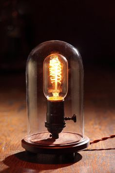 Edison Lamp - Desk Lamp - Steampunk Light - Industrial Lamp - Colonial Light - BULB INCLUDED - Table Lamp. $89.00, via Etsy.