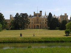 An 1800s palace built on a Renaissanc chateau & Gothic fort. At Lednice Czech Republic.
