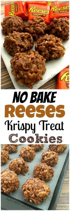 No Bake Reese's Krispy Treat Cookies
