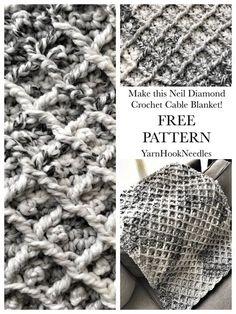 The Neil Diamond Crochet Cable Blanket with FREE Pattern! - YarnHookNeedles -