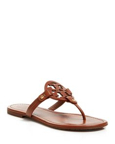 Tory Burch Flat Thong Sandals - Miller | Bloomingdale's