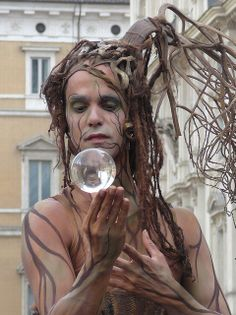 A street performer in Piazza Navona in Rome.