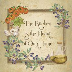 Kitchen Olive Leaves (Grace Pullen)