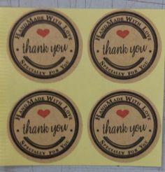100 шт./лот спасибо любовь самоклеющиеся наклейки крафт этикетки диаметр 3 см для Hand сделано Gift / торт / конфеты бумажные метки купить на AliExpress