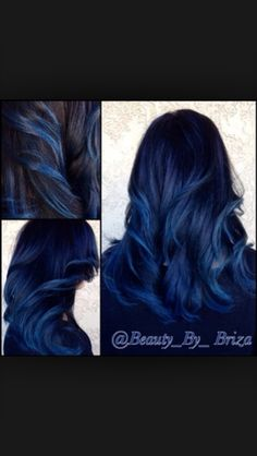 Blue bayalage