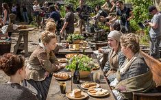 """In Jamie's absence, his sister Jenny has taken on the responsibility of running Lallybroch. To portray her feminine touch, Steele's team adorned the set with rosebushes and assorted plants. """"Everything looks more colorful than in the scenes when Jamie had been beaten,"""" says Steele. """"We wanted people to feel that she had taken care of things while he was gone."""""""