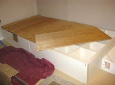 Ikea Bookcase Storage Hack