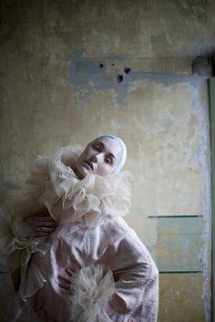 Silk tulle neck ruff cuffs by Lovechild Boudoir