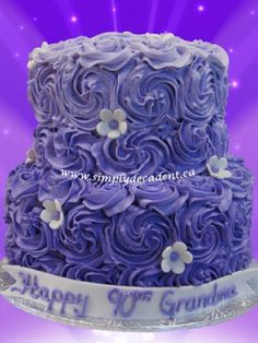 Top Buttercream Rosette Cakes