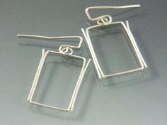 Ethereal Sterling Rectangular Earrings