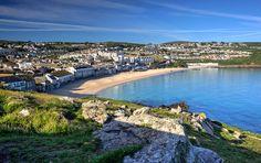 Photo of Porthmeor beach - St Ives, Cornwall - St Ives Cornwall, West Cornwall, Devon And Cornwall, Cornwall England, St Ives Beach, Wales, Visit Devon, Cornish Beaches, British Beaches