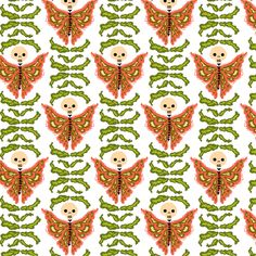 butterfly garden fabric by skellychic on Spoonflower -
