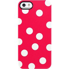 Uncommon Razzle Dots Red iPhone 5/5S TS Deflector Case ($19) ❤ liked on Polyvore featuring accessories, tech accessories and multi