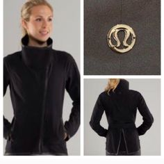 Lululemon Harmony Soft Shell Jacket Black. Excellent condition. Slim fit, bonded seams, 2-way stretch soft shell fabric. Wear the high collar up or folded down. Zip pockets. Zip sleeve cuffs. Do not dry clean! No trades. No PayPal. lululemon athletica Jackets & Coats