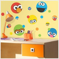 16 Inch Big Bird Decal Sesame Street Removable Peel Self Stick Wall Sticker Art Kids Home Decor Nursery Decoration Boys Girls Room 9x16 inch