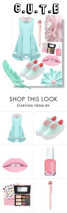 """Untitled #38"" by nathalia23 on Polyvore featuring Essie, Too Faced Cosmetics and Ladurée"