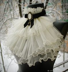 """Jabot """"Feather of an angel"""" (ivory) - buy or buy- Жабо """" Перо ангела """" ( айвори ) – купить или з… Jabot """"Feather of an Angel"""" (ivory) – buy or order in the online store at the Fair of Masters Steampunk Fashion, Victorian Fashion, Gothic Fashion, Vintage Fashion, Lolita Fashion, Diy Fashion, Fashion Dresses, Fashion Design, Gothic Mode"""