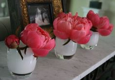 Two of my favorite things in life, together...Glassybaby's and Peonies.