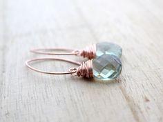 Prasiolite Rose Gold Drops by Saressa Designs