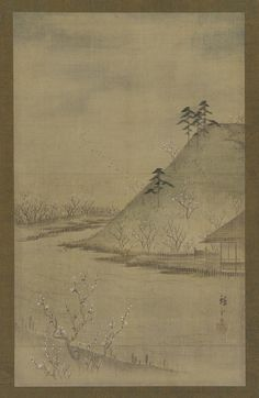 Landscape of the season: spring | Utagawa Hiroshige II (1826-1869) | Color on silk | Japan | Edo period | mid 19th century | Gift of Charles Lang Freer | Freer Gallery of Art and Arthur M. Sackler Gallery | F1898.123