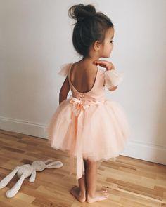 Ballerina. Dress. Peach. Bunny. Sweet