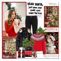 """""""Dear Santa,just leave your credit card under the tree!!"""" by lilly-2711 ❤ liked on Polyvore featuring Moncler, George and Gucci"""