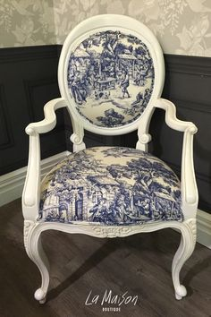 PRE ORDER: Willow armchair in toile