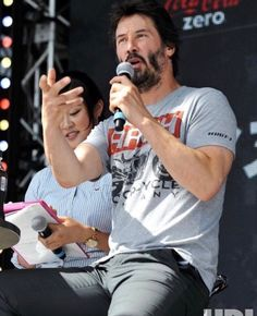 Actor Keanu Reeves makes an appearance at the Suzuka 8 Hours FIM Endurance world championship Final at Suzuka Circuit in Mie prefecture, Japan on July Keanu Reeves House, Keanu Reeves John Wick, Keanu Charles Reeves, Good Looking Actors, Good Looking Men, Arch Motorcycle, Keanu Reeves Quotes, Keanu Reaves, Classic Hollywood