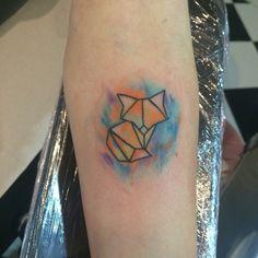 Watercolor fox tattoo :)