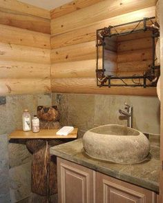 Country Decor Ideas ~ i have aways wanted a log cabin house