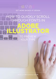 Learn how to QUICKLY scroll through the fonts panel in Illustrator so you can… Ps Tutorials, Web Design Tutorials, Graphic Design Tips, Graphic Design Inspiration, Photoshop Design, Photoshop Tutorial, Adobe Illustrator Tutorials, Learn Illustrator, Photoshop Illustrator