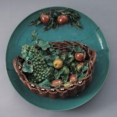 Vintage Portuguese Majolica Pottery Palissy Ware Lobster
